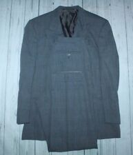 Men's Ermenegildo Zegna soft double breasted suit in gray w 32x32 pants-fit 42R