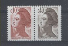 FRANCE TIMBRE - PAIRE 2179a 0,10 + 0,40 LIBERTE - NEUF LUXE **