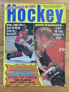 Hockey Stanley Cup Issue KEITH MAGNUSON KEN DRYDEN Magazine CANADIENS BLACKHAWKS