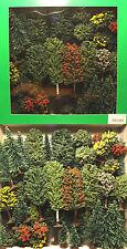 Jordan H0: 50 Bäume (Mischwald), Büsche, 3-12 cm (JO 4A) - NEU