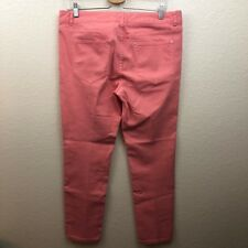 Cache Coral Pink Skinny Stretch Ankle Jeans Size 12