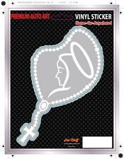 Rosary BEADS Car Sticker - Cross - Window - Auto Decal