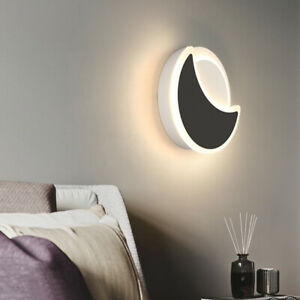 Modern 15W LED Background Wall Sconce Lights Fixture Acrylic Moon Crescent Lamp