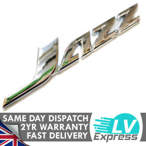 Chrome Car Badge Tailgate Boot Rear Door Wing 150x25mm Compatible with Jazz