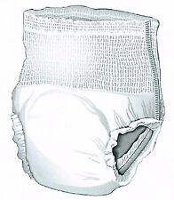 48 XXL Adult Pull On Disposable Briefs Undergarments Incontinence Cloth Like 2XL