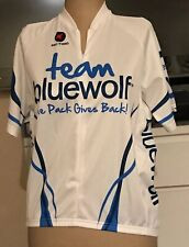 Pactimo Womens Cycling Jersey Team Bluewolf The Pack Gives Back White Sz XS