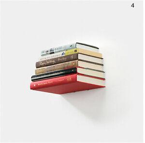 1 Pcs Wall Home Decor Design Student Creative Hidden Invisible Book Shelf N SJ