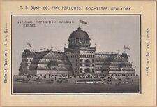 Victorian Trade Card-Dunn Co-Rochester, NY-Exposition Building-Kansas City, KS