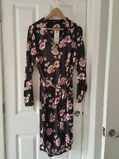 Boohoo ladies floral shirt dress size 14 bnwt