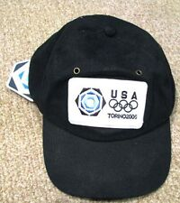 Torino 2006 rare USA NOC Olympic Team Blue Roots baseball cap hat BNWT  Rare