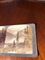 Vintage Lake Louise & Mt Victoria Canada Underwood Stereoview Photo Card