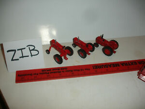 1/64 Tractor Grouping - Farmall M, IH Farmall MV, and IH ID9 tractors