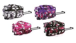 Wheeled Holdall Travel Weekend Lightweight Hand Luggage Overnight Maternity