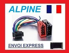 CABLE ISO AUTORADIO ALPINE 16PIN FAISCEAU COMPLET CDA-9884R 9885R 9886R NEUF