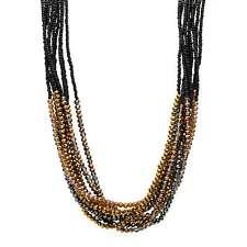 Oliver Bonas Women Loretta Black Beaded Statement Collar Necklace