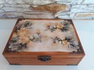 Wooden Keepsake Box, Decorative Box, Wood Box, Jewelry Box, Tea Bag Box, Patt 17