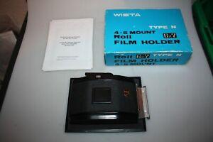 wista 4x5 mount,roll film holder