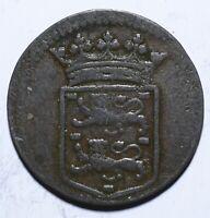 1745 VOC Netherlands East Indies One 1 Duit West Friesland - Lot 438