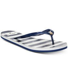 6d53b1f64722 Kate Spade Womens Nassau Flip-flop Open Toe Jellies Thong Sandals Navy Size  8 M