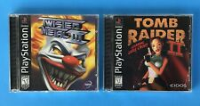 Tomb Raider II and Twisted Metal III PlayStation 1 Video Games