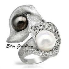 US$700 KNOCK OUT Ring Made in ITALY Sterling Silver Tulip Design Faux Pearl SALE