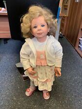 Monika Levenig Künstlerpuppe Vinyl Puppe 78 cm. Top Zustand