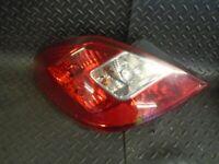 2008 VAUXHALL CORSA D 1.2i 16V 5DR N/S PASSENGER SIDE REAR LIGHT 13269050