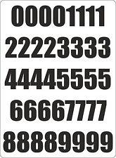 Set 40x autocollant sticker chiffre chiffres mulleimer tur Noir