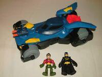 Imaginext DC Super Friends Deluxe Batmobile Vehicle With Batman & Robin Figures