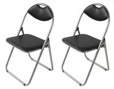 2x Metal Sillas Plegables Negro Gästestühle Invitados para Visita de Jardín