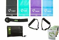 Norse Strengths Resistance Bands Kit 4 Exercise Physical Therapy Stretch Sports