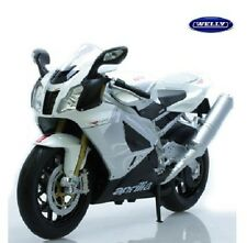Welly Aprilia RSV 1000R 1/10 White Diecast Motorcycle Model