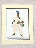 1965 Vintage Stampa Africano Drummer Ragazzo Yoruba Nigeria Tradizionale Vestito