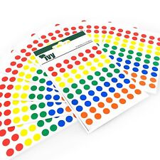 700 Coloured Sticky Dots Labels Round Dots Self Adhesive Dots Assorted Colours