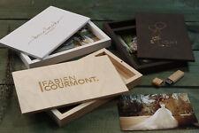 Handmade wedding wood photo box for USB Drive for wedding or family photo