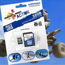 Contour Roam 32gb MAXFLASH Action MICROSD SDHC SCHEDA DI MEMORIA -/- CARD CLASS 10/cl10