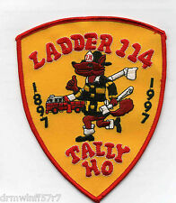 """New York City - Tower Ladder-114  """"Tally HO""""  (4.5"""" x 5.5"""" size) fire patch"""