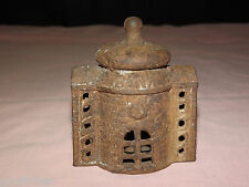 Vintage Old Cast Iron Pagoda Coin Bank