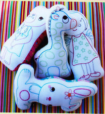 PATTERN - Stuffie Play - fun stitchery toys for baby - PATTERN only