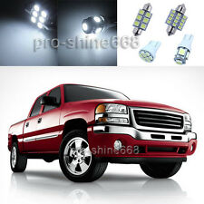 White LED Interior with Back Up Lights Package for GMC Sierra 1999 2006