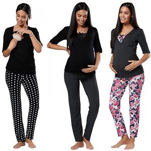 Happy Mama.Women's Maternity Nursing Breastfeeding Pyjamas Set V-neck.122p