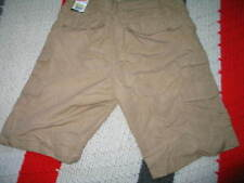 Men's Plug Cargo Shorts W 30 Khaki/Tan Light Weight New With Tags 100%Polyestr