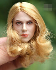 "GAC TOYS 1/6 Scarlett Johansson Head Sculpt Carving Female Blond For 12"" Body"