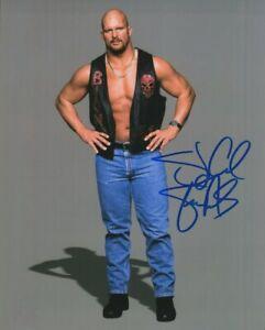 Stone Cold Steve Austin Autographed 8x10 Photo Wrestler WWE Actor TV Host COA