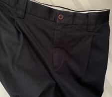 "BNWT Paul Smith Gents Navy Blue Pleat Front Cotton Trouser. Size 30""W x 33""L."