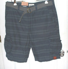 Size 38 Urban Pipeline Cargo Shorts Classic Length New W/Tags Blue & Gray Stripe