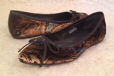 NIB $135 Born Crown Franca BROWN PAISLEY VELVET Ballet Flats Shoes Womens 6 M