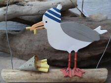 Hanging Nautical Seagull Decoration 'I've Got Your Chips' by Shoeless Joe