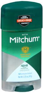 Mitchum Deodorant Mens Gel Unsncented 2.25 oz