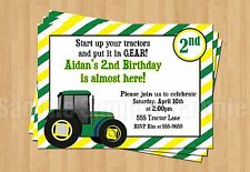 10 Big Green Tractor Farm Birthday Party Invitations 1st 2nd 3rd 4th 5th 6th